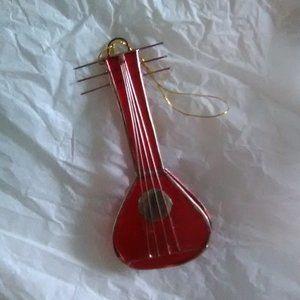 Mandolin Ornament/red